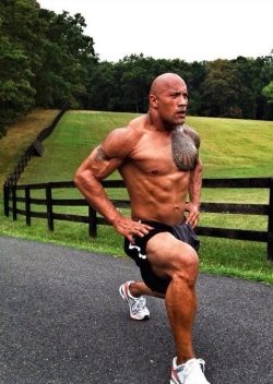 dwayne-johnson- leg workout veins muscle mass raw testosterone the rock huge steroids hgh roid rage bulk up jacked jakked swole wwe smackdown jabroni fitness Scorpion King Miami